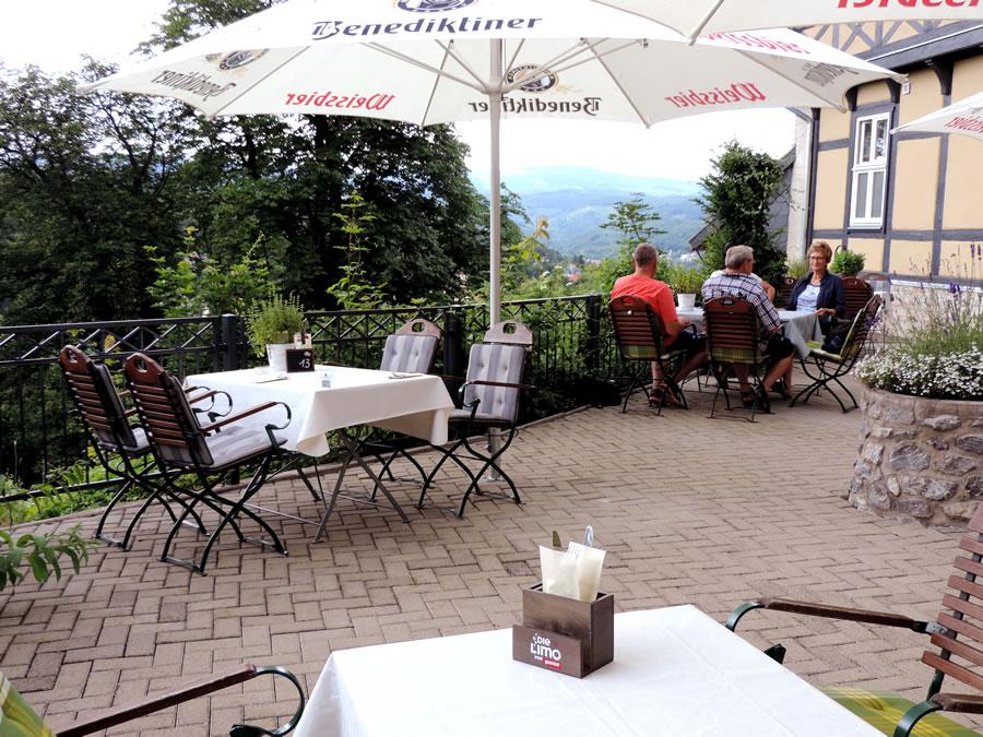 Terrasse am Gasthaus Zum Büchsenmacher